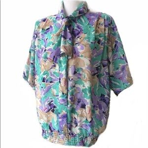 Alfred Dunner Floral Blouse